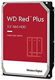 Western Digital 西部数据 6TB WD Red Plus NAS 内置硬盘 - 5700 RPM 级别,SATA 6 Gb/s,CMR,64 MB 缓存,3.5 英寸 -WD60EFRX