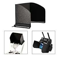 O'woda 奧沃達 遮陽罩 顯示器 遮陽罩 兼容手機 iPad 平板 DJI Mavic Mini/Mavic 2 Pro Zoom/Mavic Pro/Mavic Air/Spark/Phantom 3/4 Inspire 遙控器(L128) 5.5 inches-L128