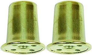 JANDORF Specialty Hardware 60109 2 件装 2.54 厘米黄铜顶帽顶饰