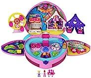 Polly Pocket Tiny is Mighty主题公园双肩包,配有可调节肩带、2个微型玩偶、冰淇淋车,适合 4 岁及以上儿童