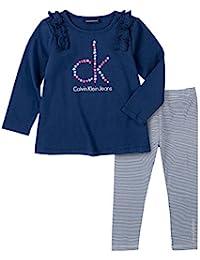 Calvin Klein 女童 打底裤套装 2件