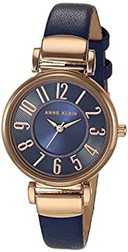 Anne Klein 安妮克莱因 女士易读皮革表带手表 AK/2156