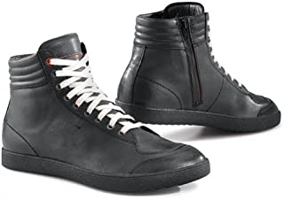 TCX 摩托车鞋,摩托车靴短款 X-Groove WP 靴,男女皆宜,运动员,全年,皮革