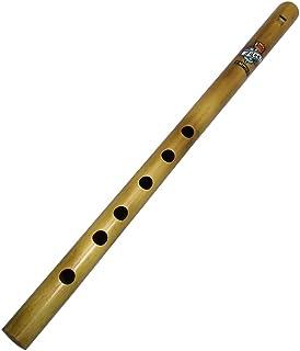 Zaza Percussion- 6 个手指孔 - 抛光竹长笛 (D# - 15'' 印度长笛)