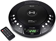 HANNLOMAX HX-329CD CD 播放机,带 Qi 无线充电器、FM 收音机、蓝牙、数字时钟带双闹钟、* LED 显示屏、USB 端口用于充电/MP3 播放、辅助输入、遥控器。
