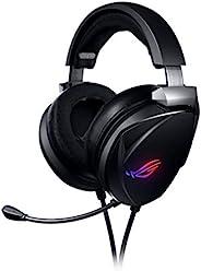 Asus 华硕 ROG Theta 7.1 USB-C 游戏耳机,带 7.1 环绕声,AI 降噪麦克风,ROG 家庭影院 7.1 DAC,ESS 四驱驱动器,适用于PC,PS4,Nintendo Switch 和智能设备