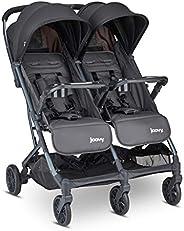 Joovy Kooper X2 双推车,轻质推车,紧凑折叠带托盘,锻造铁制