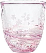 ADERIA tsugaruvidro 玻璃杯 粉色 290毫升 花纪行 流动的樱花系列 玻璃 单个装 日本制造 F-71659