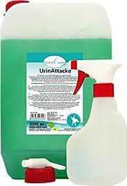 cdVet 天然产品 casaCare UrinAttacke 喷雾瓶 罐 喷雾。 5 升 - 狗、猫 - 尿液+粪便 - 无异味 - 使用* - 预防 + 处理 + 节能 -