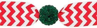 Emi Jay 水晶珠发带,红色/白色 V 形花纹祖母绿珠