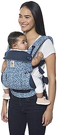 Ergobaby 婴儿背带 适合3岁以上儿童(5.5至20千克) 2018 Batik 靛蓝 / 符合人体工程学的婴儿背袋 适用于背部腹部和臀部