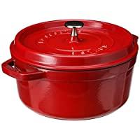 ZWILLING 雙立人 Staub 琺寶 鑄鐵圓形砂鍋,櫻桃色,4夸脫(約3.79升)