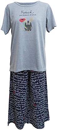 [飞马日本(Hyuma Nihon)] 休闲服装 FredericT恤&人造丝裤套装 GY 女士