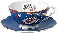 Wedgwood Paeonia Blush 茶杯茶碟套装,蓝色