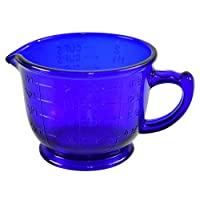 HOME-X 钴蓝色量杯,复古厨房配饰(473.18 克)长 15.24 厘米 x 宽 11.43 厘米 x 高 8.89 厘米