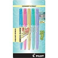 PILOT frixion Light PASTEL 系列可擦 highlighters 5件套黄色粉色绿色紫色蓝色46543