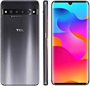 TCL 10 Pro 无锁 Android 智能手机,带 6.5 英寸 AMOLED FHD + 显示屏,6400 万像素四后摄像头系统,128 GB + 6 GB 内存,4500 mAh 快速充电电池