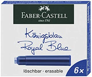 Faber-Castell 辉柏嘉 185514 – 标准墨盒 6件装,红色
