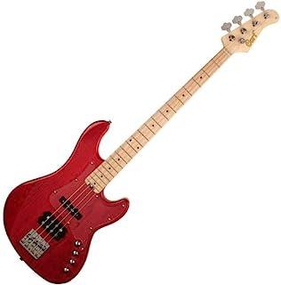 Cort Gb74Jh Jazz 红色, 半透明 Bass 吉他