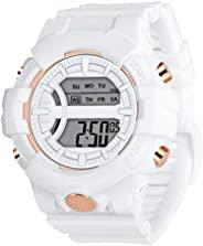 女式数字手表女孩运动防水电子手表,带闹钟、秒表、夜光夜灯男式*手表