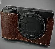 LIM'S 真皮相机半壳 RC-GR3BR 适用于 Ricoh GR3 外壳棕色 LI