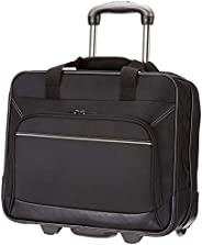 AmazonBasics 笔记本电脑行李箱,带快速滚动的轮子和方便拿取的前袋 - 适合不超过16英寸(40厘米)的笔记本电脑