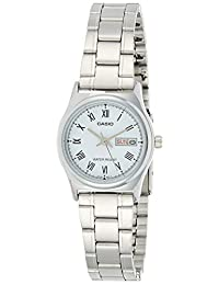 Casio Watch Analogue Display and Stainless Steel Strap LTP-V006D-2B