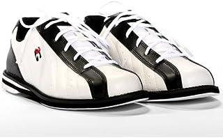 3G Kicks 白色/黑色中性款保龄球鞋,尺码