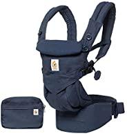 Ergobaby Omni 360 全位置婴儿背带,适用于带腰部支撑的新生儿至幼儿,7-45磅(约3.18-20.41千克),午夜蓝