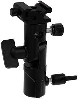 Fotodiox Elite 闪光伞支架带旋转/倾斜头,可安装至灯架和三脚架,适合宾得 AF