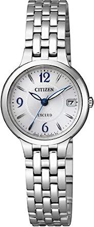 CITIZEN西铁城 腕表 EXCEED 光动能驱动手表 不锈钢 圆形款 EW2260-55A 银色