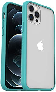 OtterBox Sleek Case - 透明、防摔保护套,适用于 Apple iPhone 12 mini,透明/蓝色(无零售包装)
