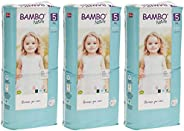 Bambo Nature Size 5 优质环保纸尿裤(27-40 磅/12-18 千克)3 x 44 件装(保护盒)