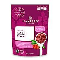 Navitas Organics 枸杞,16盎司(454克)/袋,Non-GMO,晒干,不含亚硫酸盐