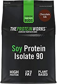THE PROTEIN WORKS Soy Protein 90 Isolate Powder - 2 kg, Chocolate Silk