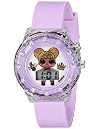 L.O.L. 驚喜! 女孩石英塑料手表,顏色:紫色(型號:LOL4044)