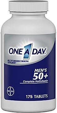 One A Day 适合50+ 以上男性包含多种优势的复合维生素,补充维生素A,C,E,B6,B12,钙和维生素D,175粒