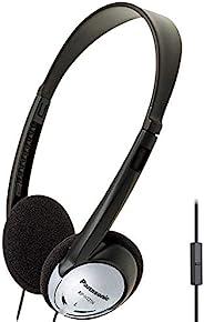 Panasonic 松下 轻型头戴式耳机带 XBS 和麦克风 - RP-HT21M (黑色和银色)