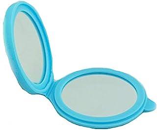 Kolight 新款硅胶迷你化妆品便携折叠口袋女士女孩化妆镜双面(一只为正常,另一部分为放大)