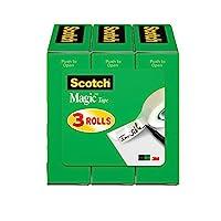 Scotch Magic Tape, 3/4 x 1000 Inches, Boxed, 3 Rolls (810K3)