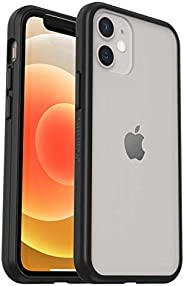 OtterBox Sleek Case - 透明、防摔保护套,适用于 Apple iPhone 12 / 12 Pro ,透明/黑色(零售包装)
