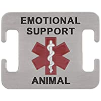 Emotional Support Animal Dog Tag for Service Dogs - Attaches to Collar, Harness, Leash 5/8英寸