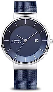 BERING Time   男式超薄手表 14639-307   39 毫米表壳   太阳能系列   不锈钢表带   防刮蓝宝石水晶   极简 - 丹麦设计