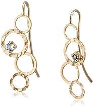 [CHIARO DI DIAMANTE] CHIARO DI DIAMANTE K10黄金 白珍珠 圆形 蜂蜜 耳环 CHS796