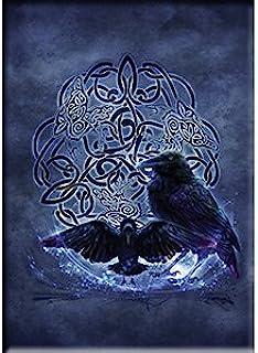 Ashwood Brigid Celtic Raven,官方*原创艺术品,优质磁贴 - 6.35cm x 8.89cm