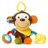 SKIP HOP 嬰兒猴子玩具 Bandana 伙伴、牙膠玩具與多感官搖鈴和紋理
