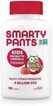 SmartyPants 儿童*软糖:益生元和*,草莓味,90 粒软糖维生素,30 天供应,无需冷藏