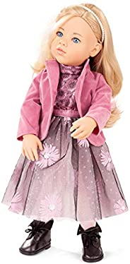 Gotz Sophia 19.5 英寸(约 49.5 厘米)Happy Kidz 可动乙烯基多关节娃娃,带长金发,可洗涤和造型