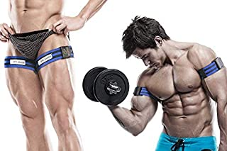 Occlusion Training Bands by BFR Bands, PRO Model, 2 Pack, Blood Flow Restriction Bands Give Lean & Fast Muscle Growth with...