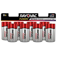 FUSION by Rayovac High-Performance 9V Alkaline Batteries D 8